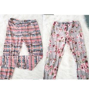 S Pink Republic Multicolor Patterned Leggings